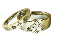 Matching Orthodox Wedding Bands